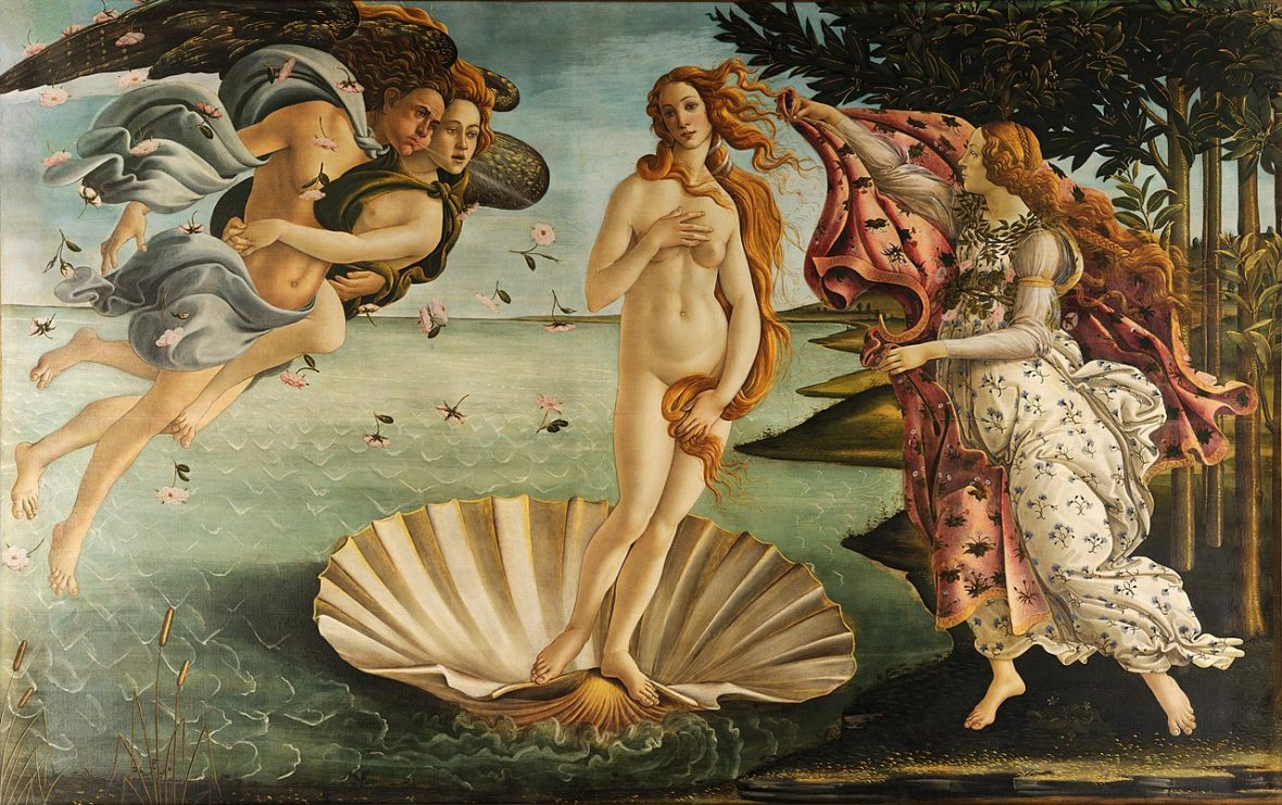 Painting Cabanel The Birth of Venus - the grace of the female body