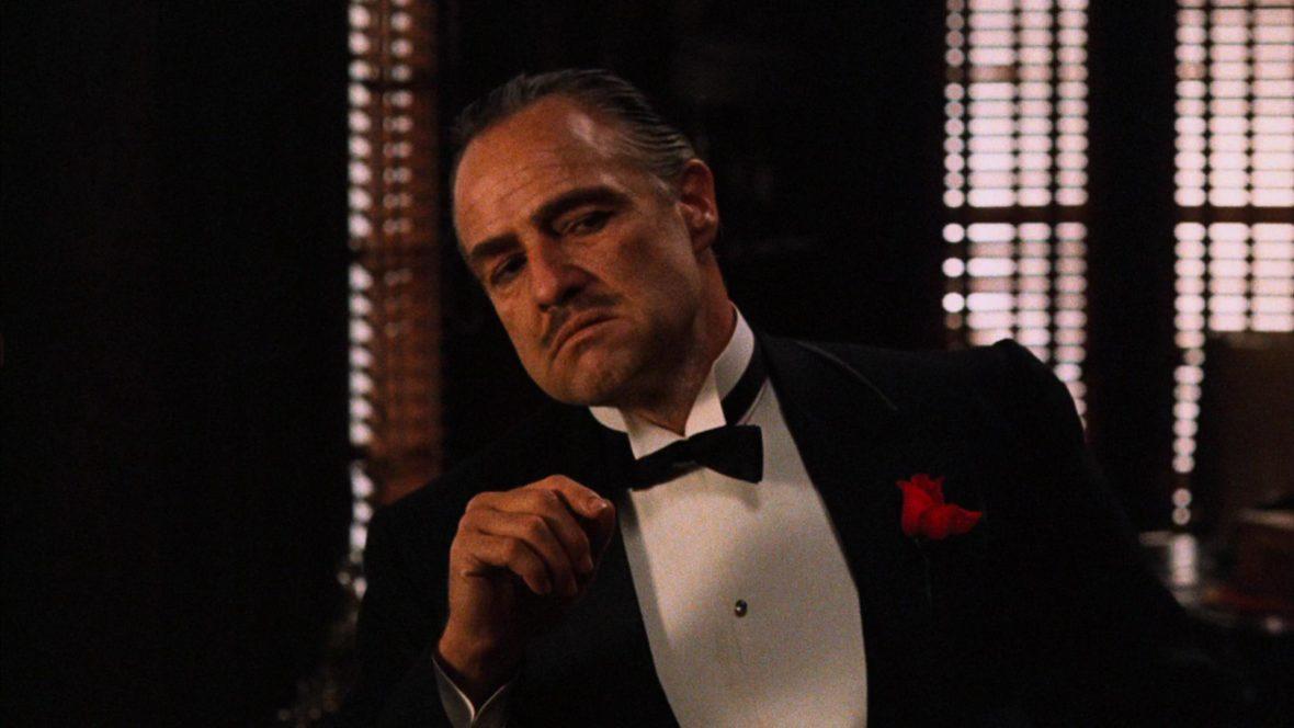ผลการค้นหารูปภาพสำหรับ godfather film scene marlon brando cotton cheek