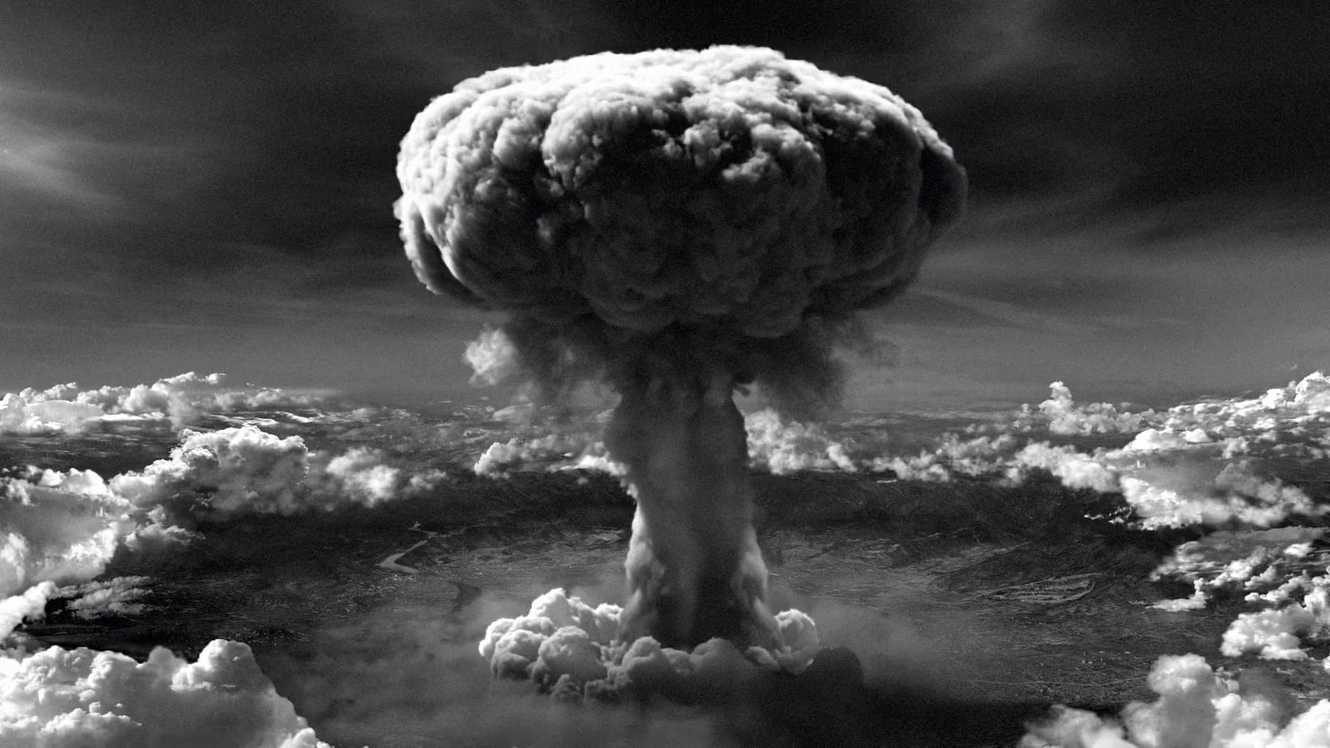 atomic bombing The first atomic bomb has been dropped by a united states aircraft on the japanese city of hiroshima president harry s truman, announcing the news from the cruiser, uss augusta, in the mid-atlantic, said the device was more than 2,000 times more powerful than the largest bomb used to date.